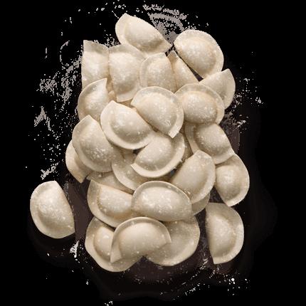 Вагові вареники з картоплею та грибами