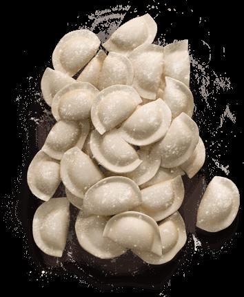 Вагові вареники з капустою